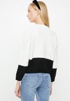 MANGO - Miriam knit sweater - white & black