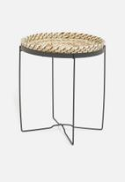 H&S - Seagrass side table - black