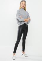 MANGO - Biker leggings - black