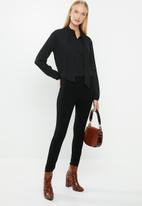 MANGO - Flowy blouse - black