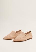 MANGO - Raina suede loafer - light beige