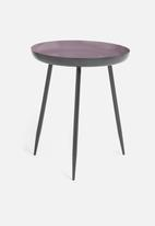 H&S - Tri-leg side table - black & purple