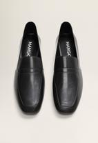 MANGO - Raina1 leather loafer - black