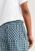 MANGO - Pichecks pyjama set - navy & white