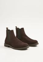 MANGO - Chelsea boots - brown