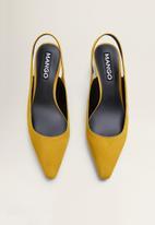 MANGO - Crose1 suede block heel - yellow