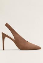 MANGO - Pica1 suede stiletto heel - brown