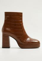 MANGO - Miami ankle boot - brown