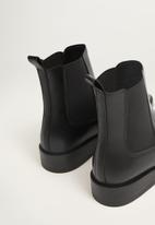 MANGO - Potu leather chelsea boot - black