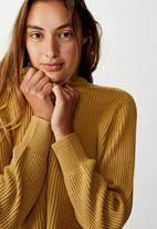 Cotton On - Archy cropped pullover -  prarie sand