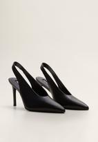 MANGO - Pica leather stiletto heel - black