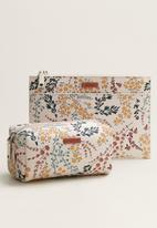 MANGO - Flores cosmetic bag - light beige