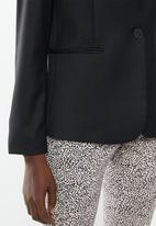 MANGO - Boreal long sleeve blazer - black