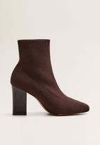 MANGO - Almond ankle boot - brown