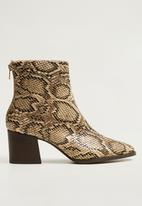 MANGO - Lille ankle boots - beige & brown