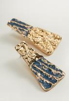 MANGO - Lea earrings - gold & blue