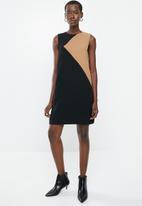 MANGO - Ilaria dress - black & beige