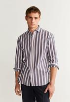 MANGO - Izaro shirts - blue & white