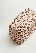 MANGO - Leopard cosmetic bag - beige