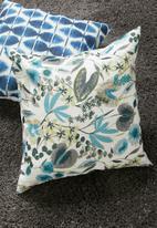 Grey Gardens - Botanic cushion cover - indigo