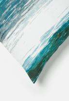 Grey Gardens - Beach cushion cover - teal