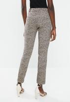 MANGO - Cola trousers - beige & brown