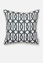 Sixth Floor - Trellis cushion cover - black & black