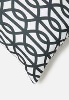Sixth Floor - Trellis cushion cover - black & black