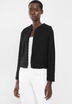MANGO - Short length blazer - black