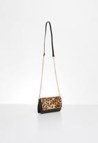 ALDO - Scheule cross body bag - brown & black