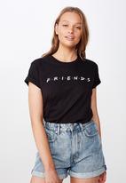 Cotton On - Classic friends T-shirt friends - black