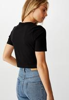 Cotton On - Drew henley tee - black