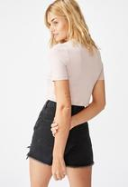 Cotton On - Drew henley tee - burnished lilac