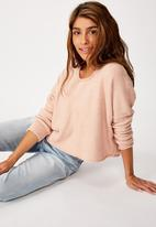 Cotton On - Slouchy fine pullover - rose smoke