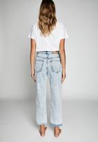 Cotton On - Straight leg jean fairhaven - blue rip
