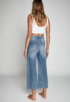 Cotton On - Wide leg cropped jean - blue