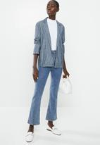 Jacqueline de Yong - Leila worker blazer denim - blue & white