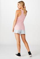 Cotton On - The long line henley tank - peony burnout