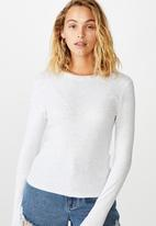 Cotton On - The turn back long sleeve top - grey