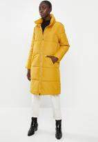 Jacqueline de Yong - Erica x-long padded jacket - yellow