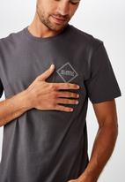 Cotton On - Tbar urban T-shirt - charcoal