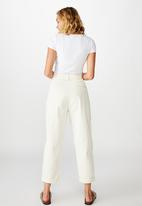 Cotton On - Hunter pleated pant - neutral