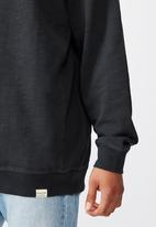 Cotton On - Pigment dyed oversized crew - charcoal