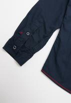 SOVIET - Carlow long sleeve roll shirt - navy