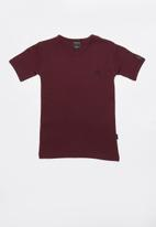SOVIET - Bolt evo short sleeve muscle tee - burgundy