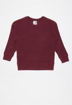 Cotton On - Suki slouch crew - burgundy
