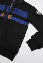 SOVIET - Southfield zip through sweat top - black & blue