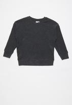 Cotton On - Suki slouch crew - charcoal