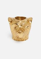 H&S - Animal dinner candle holder - lioness