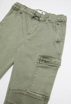 Cotton On - Commander cargo pant - silver sage